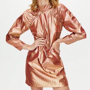 ARITZIA LITTLE MOON SANGRIA DRESS Copper Metallic